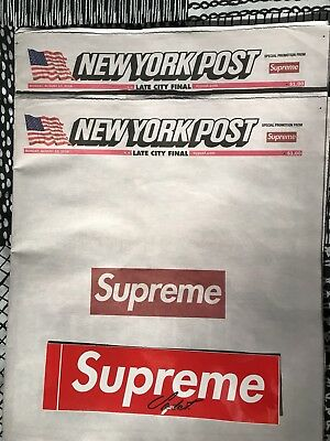Supreme New York Post 13th August 2018 Newspaper SPECIAL EDITION