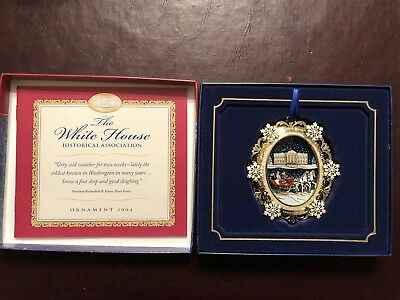 2004 White House Christmas Ornament Historical Association With Box & Booklet