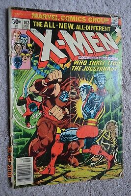 X-MEN The ALL - NEW, All - Different Marvel #102 1976 Used