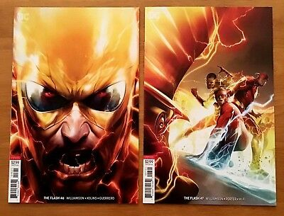 Flash 46,47 2018 Cover B Variants Francesco Mattina Covers 1st Prints DC  NM