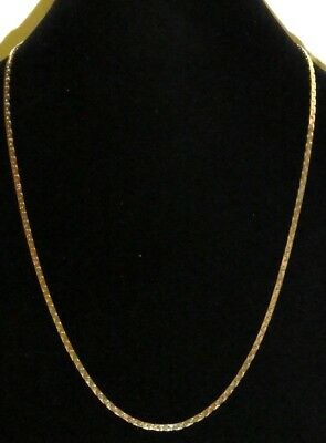 Vintage Shiny Gold Tone Chain Necklace 28 inches
