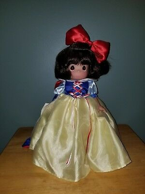"Precious Moments Disney Snow White12"" Doll with Stand Cape and Bow #5149"
