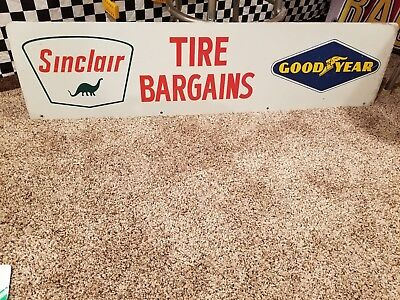 Sinclair-Goodyear Tire Rack Topper Sign vintage Double sided