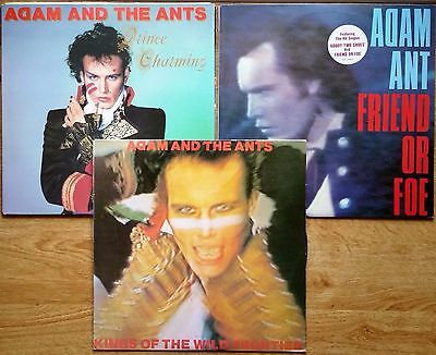 ♫ 3 classic ADAM & THE ANTS albums - vinyl is in excellent condition ♫