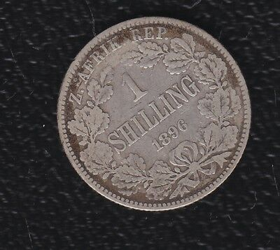 South Africa  1 Shilling 1896 Silver