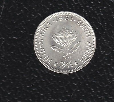 South Africa  2Half C 1961 Silver