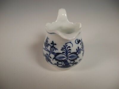 """Antique Meissen Blue Onion Small Creamer Pitcher with Oval Stamp 3.25"""""""