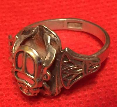 Egypt antique SILVER RING with Scarab  BEAUTIFUL BEETLE RING SIZE 18