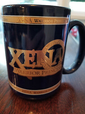 Xena Warrior Princess Gold Highlighted Mug Coffee Cup 1997 Never Used