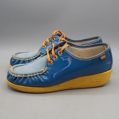 9ab078c9dd5 VINTAGE SAS COLORFUL Handsewn Granny Comfort Loafers Shoes Size 9 ...
