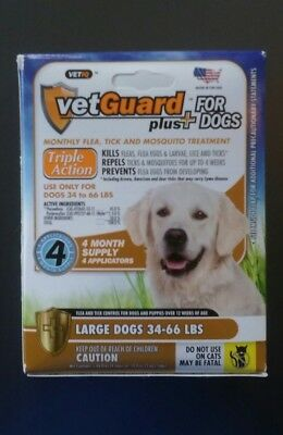 VetGuard Plus Flea & Tick 4 month supply for Large Dogs 34-66 lbs.