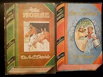 2 Antique DR.A.C. DANIELS  VETERINARY  MEDICINES  CATALOG  HORSE  CATTLE