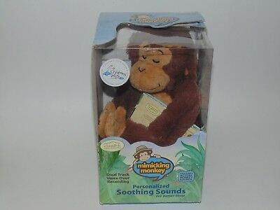 Mimicking Monkey 2010 Cloud B Plush Voice Recording Soothing Sounds Better Sleep