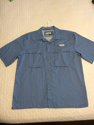 98deec66 MAGELLAN OUTDOOR FISH Gear Blue Fish Sporting Shirt XL Extra Large ...