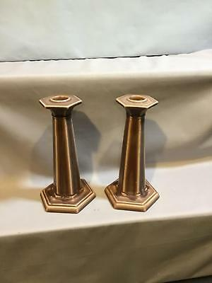 2 Rookwood Candlesticks Marked XXIII mold number 2666 Circa 1923