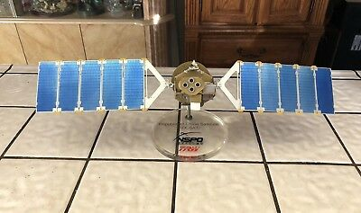 TRW NSPO Formosat -1 Rocsat-1 Satellite Presentation Metal Desk Model NASA