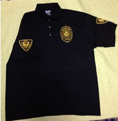 Security Polo Shirt-Front-Back-Sleeves-All Sizes And Colors-Events-Clubs-Concert