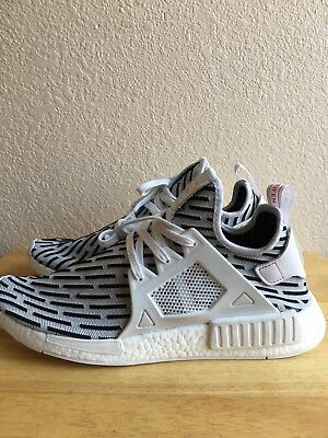 best sneakers c55f1 72e41 Adidas NMDXR1 PK Primeknit ZEBRA White Core Black Grey Red BB2911 Mens SZ  13