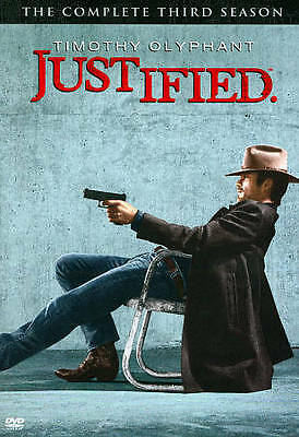 Justified: The Complete Third Season DVD 3-Disc Set Brand New Sealed