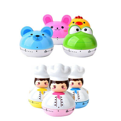 Mini Chef Animal Cooking Timer 60min Alarm Clock Kitchen Stopwatch Useful ERE