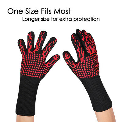 500C Aramid Extreme Heat Resistant Proof Cooking Oven Mitt BBQ Grilling Glove