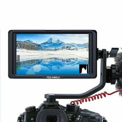 Feelworld F6S 5inch 4K HDMI IPS Screen 1080P Full HD Monitor + Sunshade for DSLR