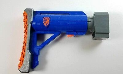 Blue Nerf N Strike Raider CS-35 Adjustable Extendable Shoulder Stock Kid Toy Gun