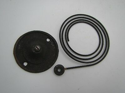 """Vintage Clock Coil Gong Bell Wire Chime Round Block - Spring  3.5"""""""