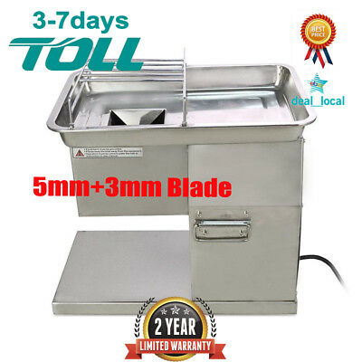 YF-250 Meat Slicer Meat Cutting Machine Stainless Steel with 5mm+3mm Blade 220V