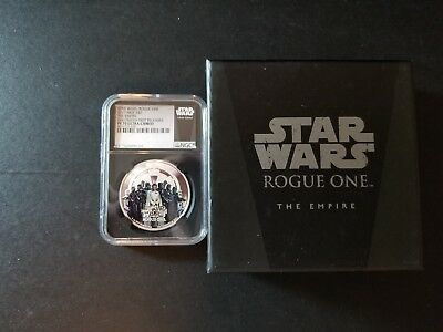 2017 Niue Silver Star Wars Rogue One Empire NGC PF70 FR (Black) WITH OGP