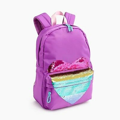 J.Crew Kids Crewcuts - Girls' Backpack with Reversible-sequin Heart