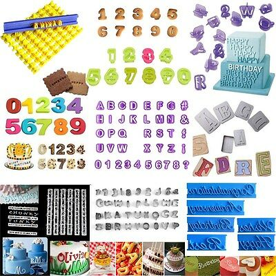 Alphabet Numbers Cookie Cutter Fondant Baking Biscuit Mold Cake Decorating Mould
