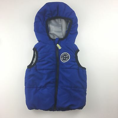 Boys size 00, Target, blue hooded puffer vest, zip up, GUC