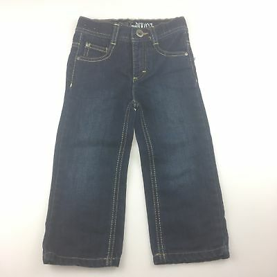 Girls / Boys size 2, Esprit, navy denim jeans, adjustable waist, EUC
