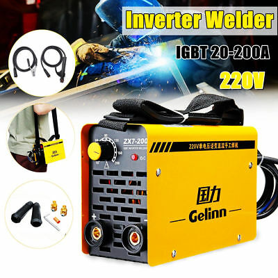 220V Inverter Welder IGBT Mini Handheld Arc Welding Machine MMA200 20-200A