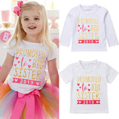 AU Sell Kids Baby Girls 2019 T-shirt Toddler Big Sister Shirts Tops Clothes Tees