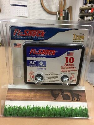 Fi-Shock EAC10A-FS Electric Fence Charger AC Powered 10-Acre Energizer Small
