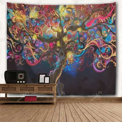 USA Stock Colorful Tree Pattern Tapestry Wall Hanging Psychedlic Tapestry Decor