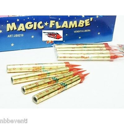 100 CANDELA CANDELINE MAGIC FLAMBE FONTANA LUMINOSA PARTY TORTA (cat. F1/K1)