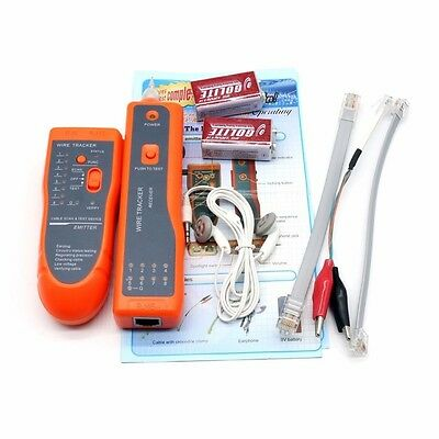 RJ45 RJ11 Network Cable Wire LAN Telephone Phone Tracker Tracer Tester Finder ca
