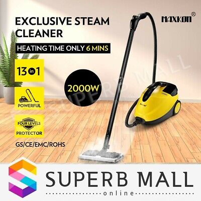 2000W High Pressure Steam Cleaner Mop Carpet Floor Window Home w/Accessories New