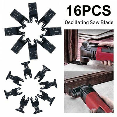 16pcs Universal Oscillating Multi Tool Saw Blades Set Carbon Steel Cutter DIY MY