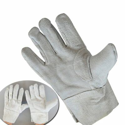 Fireproof Durable Cow Leather Welder Gloves Comfortable Anti-Heat Gloves TA