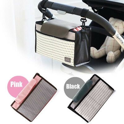 Baby Pram Pushchair Stroller Storage Buggy Cup Bottle Holder Organiser Mummy Bag