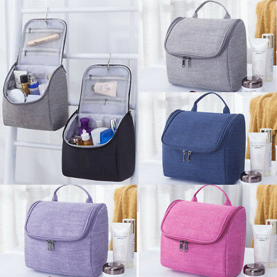 US Travel Cosmetic Makeup Bag Portable Toiletry Hanging Pouch Organizer Storage