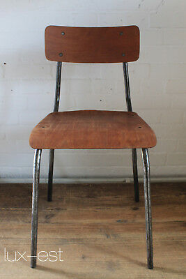 """BERLIN KANTINE V"" Industriedesign Stahlrohr Stuhl Vintage Steel Work Chair Bar"