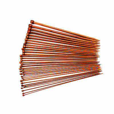 36PCS/Set 18 Sizes Single Pointed Carbonized Bamboo Knitting Needles 2mm- 10mm P