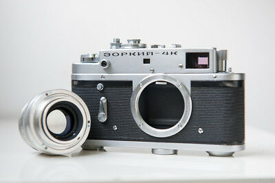 Zorki 4K Film Rangefinder Camera With Jupiter 8 Lens