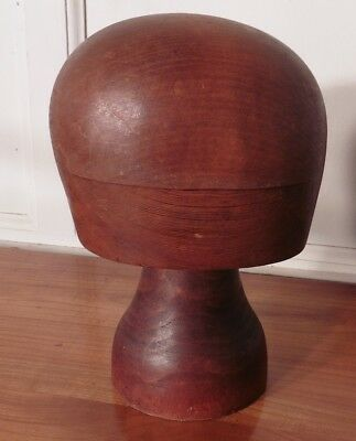 Vintage 19th Century French Hat Block Stand, shop display,Milliners Hat block