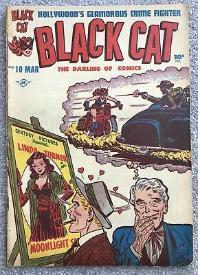 Black Cat Comic No. 10 Harvey Comics March 1948 Wild West Femme Fatale